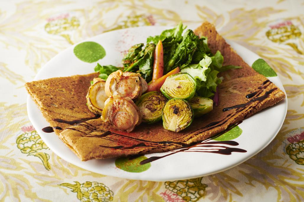 ほたて春野菜ガレット