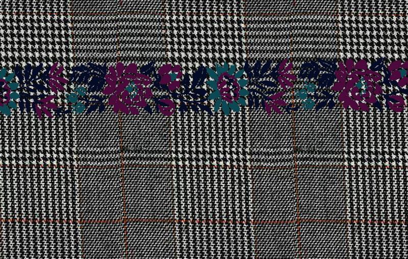 グレンチェックMIX チロリアン刺繍_82・90_サイズ変更